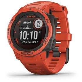 Garmin Instinct Solar GPS Smartwatch, czerwony